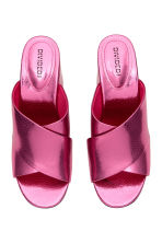 Mules - Pink/Metallic - Ladies | H&M 2