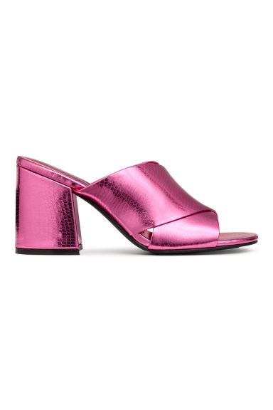Mules - Pink/Metallic - Ladies | H&M 1