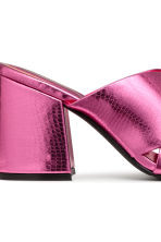 Mules - Pink/Metallic - Ladies | H&M CN 4