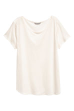 Lyocell top - Natural white - Ladies | H&M CN 2