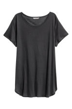 Lyocell top - Dark grey - Ladies | H&M 2