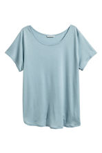 Lyocell top - Light blue - Ladies | H&M CA 1