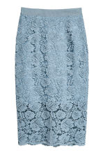 Gonna a tubino in pizzo - Blu-grigio - DONNA | H&M IT 2