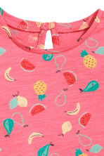 Printed jersey top - Pink/Pineapple -  | H&M 2