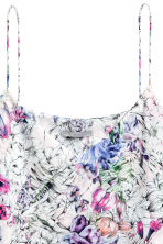 Double-layer strappy top - Powder pink/Floral - Ladies | H&M CN 3