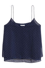 Double-layer strappy top - Dark blue/Spotted - Ladies | H&M CN 2