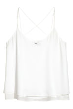 Double-layer strappy top - White - Ladies | H&M CN 2