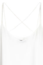 Double-layer strappy top - White - Ladies | H&M 3