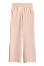 Wide silk trousers - Powder pink -  | H&M 2