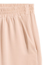 Wide silk trousers - Powder pink -  | H&M 3