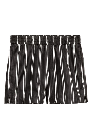 Shorts in seta - Nero/righe - UOMO | H&M IT 1