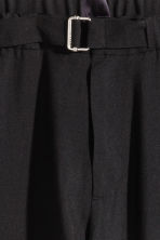Cropped wool suit trousers - Black - Men | H&M 3