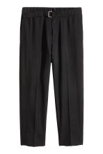 Cropped wool suit trousers - Black - Men | H&M 2