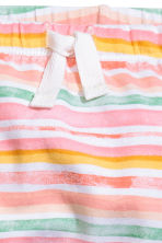 Printed jersey trousers - Pink/Striped - Kids | H&M CN 2