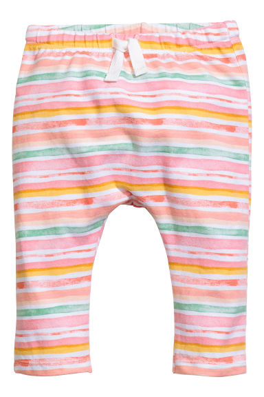 Printed jersey trousers - Pink/Striped - Kids | H&M CA 1