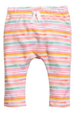 Printed jersey trousers - Pink/Striped - Kids | H&M 1
