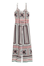 V-neck jumpsuit - Pink/Patterned - Ladies | H&M 2