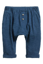 Slub jersey trousers - Dark blue -  | H&M CN 1