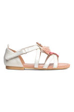 Sandals with appliqué detail - White/Flamingo - Kids | H&M CN 2