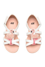 Sandals with appliqué detail - White/Flamingo - Kids | H&M CN 1