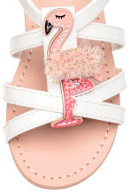 Sandals with appliqué detail - White/Flamingo - Kids | H&M CN 4