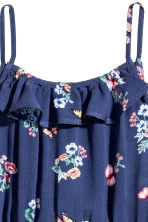 縐紗連身褲裝 - Dark blue/Floral - Kids | H&M 3
