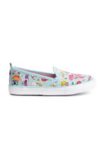 Slip-on canvas trainers - Turquoise - Kids | H&M 2
