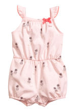 Jersey romper suit - Light Pink/Pineapple - Kids | H&M CN 1