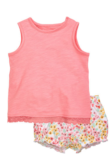 Vest top and shorts - Coral pink - Kids | H&M