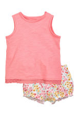 Vest top and shorts - Coral pink - Kids | H&M CN 1