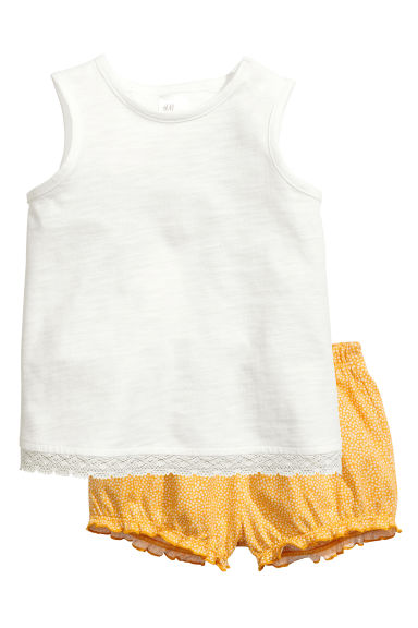 Vest top and shorts - White - Kids | H&M 1