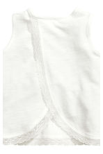 Vest top and shorts - White - Kids | H&M 4