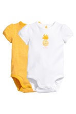 2-pack short-sleeved bodysuits - Yellow - Kids | H&M 1