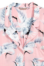 H&M+ Patterned blouse - Light pink/Birds - Ladies | H&M 2