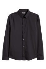 Stretch shirt Skinny fit - Black - Men | H&M CN 2