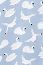 H&M+ Patterned dress - Light blue/Birds - Ladies | H&M CN 3