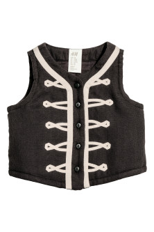 Quilted cotton waistcoat
