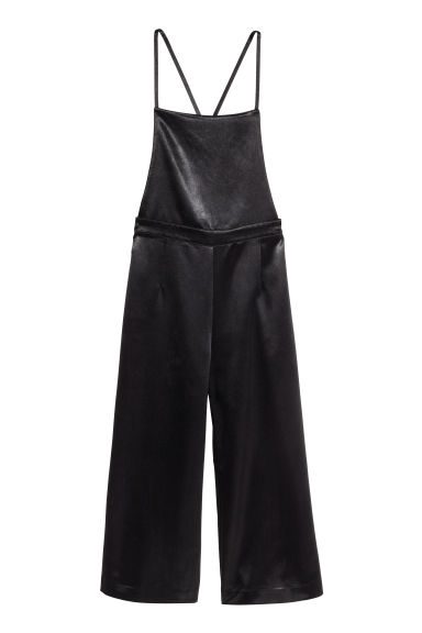 Salopette in satin - Nero -  | H&M IT 1
