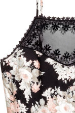 Jumpsuit - Black/Floral - Ladies | H&M CN 3