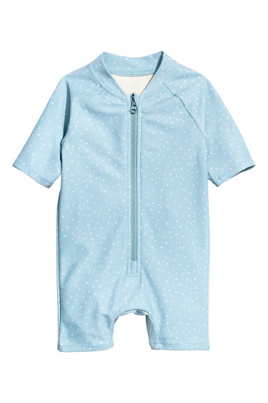 Swimsuit UPF 50 - Light blue/Spotted - Kids | H&M 1