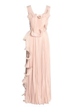 Pleated long dress - Powder beige - Ladies | H&M 2