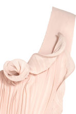 Pleated long dress - Powder beige - Ladies | H&M 4