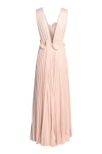 Pleated long dress - Powder beige - Ladies | H&M 3