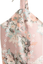 Embroidered bustier - Light pink/Floral - Ladies | H&M CN 3