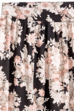 Long skirt - Black/Floral -  | H&M CN 3