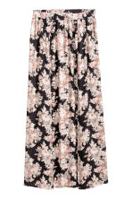 Long skirt - Black/Floral -  | H&M CN 2