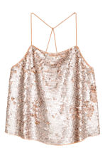 Sequined top - Old rose - Ladies | H&M 2