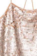 Sequined top - Old rose - Ladies | H&M 3