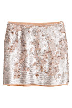Gonna con paillettes - Rosa antico - DONNA | H&M IT 2