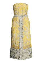 Jacquard-weave dress - Yellow/Patterned -  | H&M 2